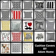 "Luxury Cushion Covers 100% Cotton Stylish Decorative & Stunning Design 18"" x 18"""