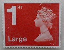 100 red  1st class large letter stamps unfranked  off paper FV £96