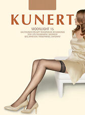 Kunert Medium Size Transparent 15 Denier Shimmery Lace Top Hold Ups Stockings
