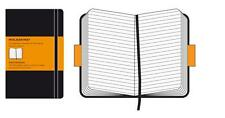 MOLESKINE NOTEBOOK RULED BLACK SOFTCOVER - Three Sizes Available