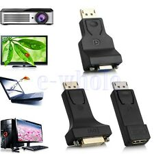 DP Display Port Male to DVI/HDMI/VGA Female Converter Adapter For PC Laptop K6