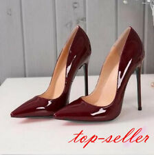 womens pointed toe pumps patent leather high heel party stilettos Wedding shoes
