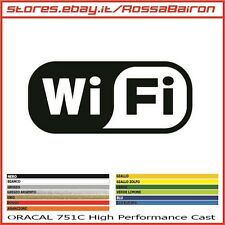 1 ADESIVO WI FI WI-FI WIRELESS mm.100 x 44 - STICKERS AUFKLEBER PEGATINAS DECALS