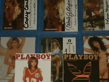 Playboy Autographed Trading Cards, Rare Foil Stamped Chase Cards, Preview Cards
