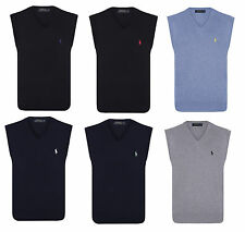 Polo Ralph Lauren Cotton Jersey V Neck Jumpers - Sleeveless Fitted Pullovers