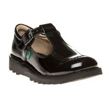 New Infants Kickers Black Kick Lo T Patent Leather Shoes Buckle