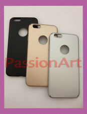 COVER CUSTODIA PLASTICA RIGIDA ALLUMINIO SATINATO OPACO IPHONE 6 PLUS 6 6S 5 5S