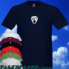 GIBSON Guitar Pick T Shirt - Gibson & Headstock Design - Electric Les Paul Model