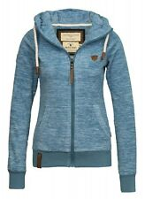 Naketano Ladies Fleece Jacket Gigi Meroni III Light Blue Melange