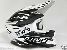 WULF ADVANCE Casco Moto Quad Scooter Motocross Casco da corsa Off road occhiali