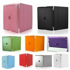 Magnetic Leather Smart Cover W/Hard Back Case For iPad 2/3/4 Air 2 mini 1/2/3