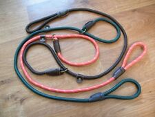 Rope Slip Lead Gundog Lead English Leather Fittings Hand stitched Top Quality.