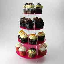 4 Tier Cupcake Stand - Weddings Birthday Christening Party - Acrylic 30 colours