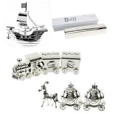 Silver Plated Keepsake Memory Gift Carriage Train First Tooth Curl Money Box