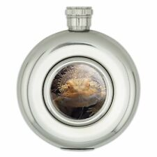 Round Stainless Steel 5oz Hip Flask Reptiles Lizards Snakes Frogs