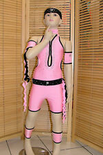 DANCE SHORTS COSTUME  AGE 5-9 PINK JAZZ DISCO MODERN TAP FREESTYLE JIVE