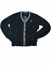 Fred Perry V-Neck Cardigan / Weste Feinstrick Navy K4236 608 #6016