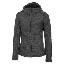 Bench Furthermost Strick Fleece Jacke Damen schwarz / grau meliert