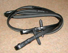 FRANK BAINES English Leather Rubber Webber Web FLEXIBLE Super Sure Grip Reins