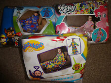 CHILDRENS SLEEVED FLEECE BLANKETS - TELETUBBIES - MY LITTLE PONY - PAW PATROL