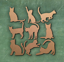 CAT LARGE LASER CUT MDF WOODEN SHAPE Wood Craft Arts Decoration Various Sizes