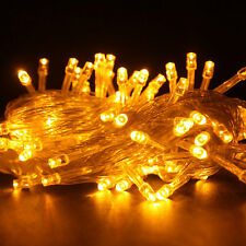 10M 100 LED Christmas Tree Fairy String Party Lights Lamp Xmas Waterproof Yellow