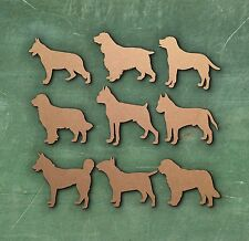 DOG LARGE LASER CUT MDF WOODEN SHAPE Wood Craft Arts Decoration Various Sizes