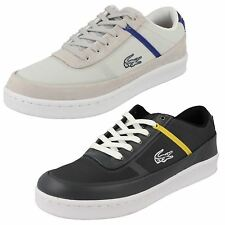 Mens Lacoste Lace Up Trainers Style COURT LINE