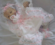 DREAM DREAM BABY GIRLS ROMPER & HEADBAND  newborn 0-3 3-6 months OR REBORN DOLLS