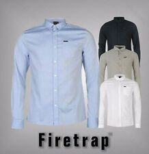 New Mens Branded Firetrap Smart Chest Pocket Basic Oxford Shirt Top Size S-XXL