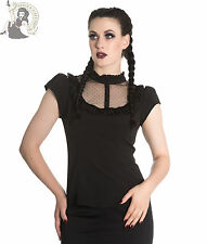 SPIN DOCTOR VANESSA gothic alternative TOP BLOUSE goth victorian BLACK