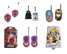 New Childrens Walkie Talkie Toys Star Wars / Minions / Avengers & More 3+