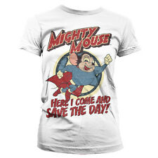 MIGHTY MOUSE SAVE THE DAY camiseta mujer shirt woman official license