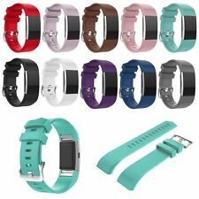 Replacement Sports Silicone Watch Band Strap Bracelet For Fitbit Charge 2 Track