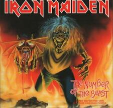 """Iron Maiden 7"""" vinyl single record The Number Of The Beast - Red Vinyl UK"""