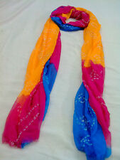Angle's Creation Beautiful Semi Georgette Multi coloured Bandhej Dupatta