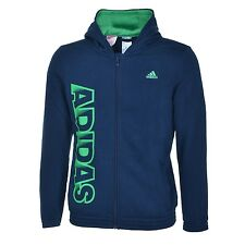 adidas boys navy zip up hoody. Hoodie. Sweat top. Various sizes!.