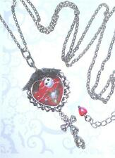 Jack Skellington Goth Long Necklace Nightmare Before Christmas Halloween Costume