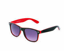 Festival Style Wayfarer Sunglasses Two Tone Red & Black