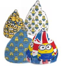 Children Kids DESPICABLE ME 3ft Bean Bag Filled Chair Seat Bedroom Play TV Room