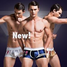 Navy Super Body Shiny Satin Wet Look Glanz Shorts / Hipster Trunks / Boxer Brief