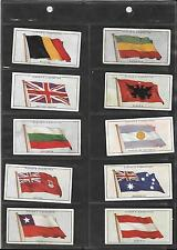 PLAYER'S - FLAGS OF THE LEAGUE OF NATIONS - 1928 - FULL SET IN SLEEVES