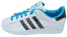 Adidas Womens Superstar 2 Trainers M20899 White/Blue/Snakeskin LEATHER UK 5-8