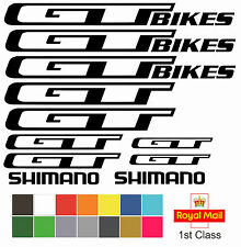 GT Bikes Replacement Mountain Bike Frame Vinyl Decals Stickers MTB