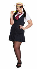 Womens Ladies Plus Size GIRLS SEXY School Girl  St Trinians Fancy Dress Outfit