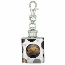 Stainless Steel 1oz Mini Flask Key Chain Reptiles Lizards Snakes Frogs