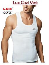 Lux Cozi Premium White Sleevless Men Vest (Pack of 10) Sando Baniyan (LCWRN-10)