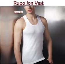 Rupa Jon White Sleevless Men's Vest ( Pack of 6 Pcs ) / Sando Baniyan  (Jon-6)