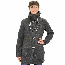 Jack Wolfskin Milton Coat Jacke Mantel Wintermantel Fleece Outdoor Damen Schwarz