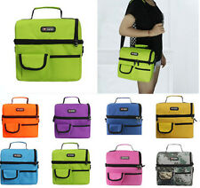 Picnic Cooler Lunch Bag Thermal Insulated Waterproof Shoulder Storage Box Tote